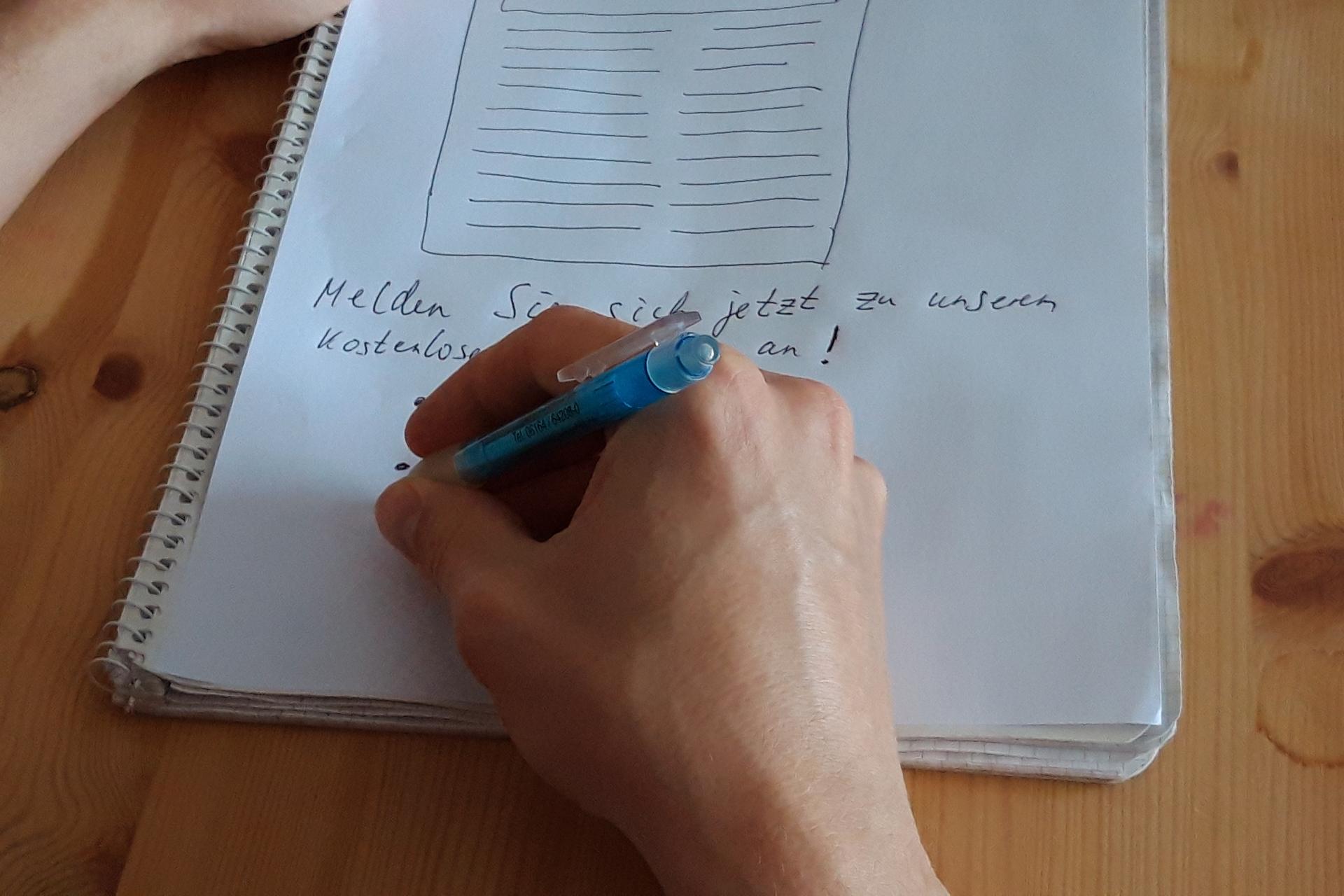 Schreiben Bild