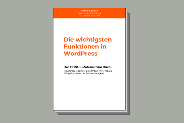 WordPress PDF Cover