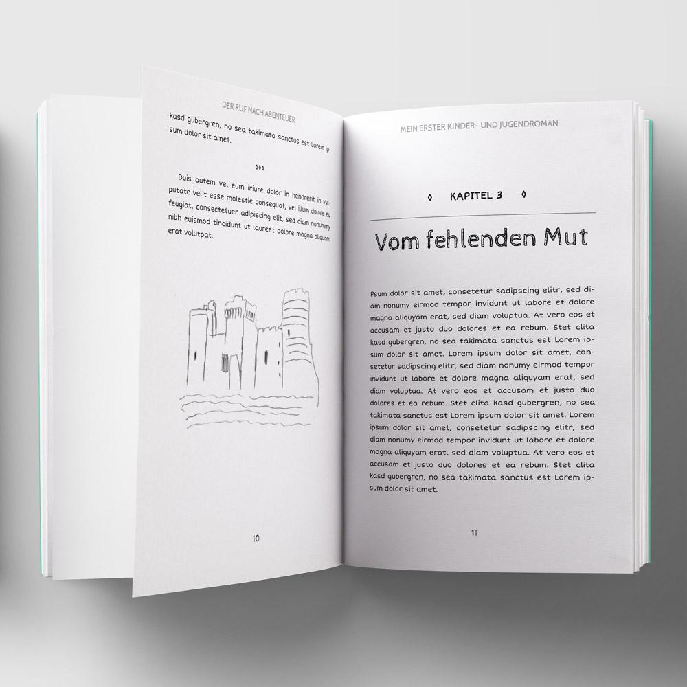 Kids Taschenbuch-Vorlage Vorschau-PDF