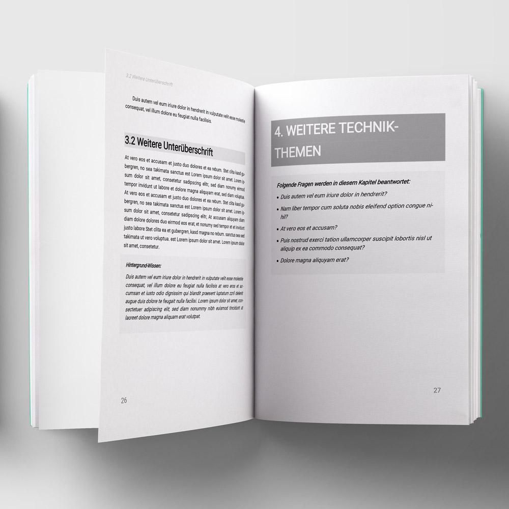 Knowledge Taschenbuch-Vorlage Vorschau-PDF