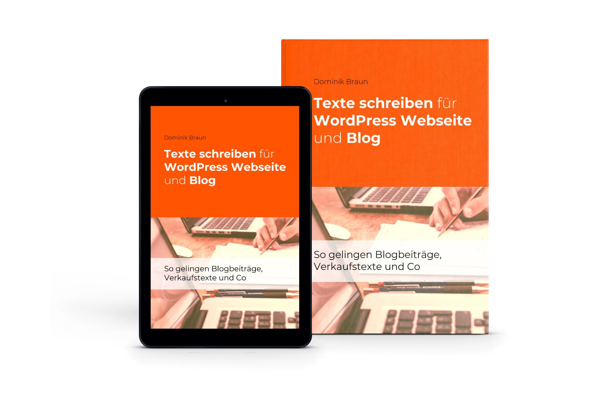 Texte schreiben für WordPress Webseite und Blog MOCKUP 3D groß